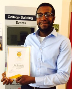 Jason Clarke _city Uni _Gold Award