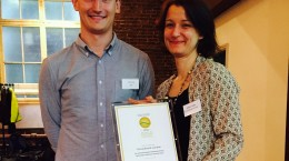 Photo of Groundwork Receiving Gold Certification Award